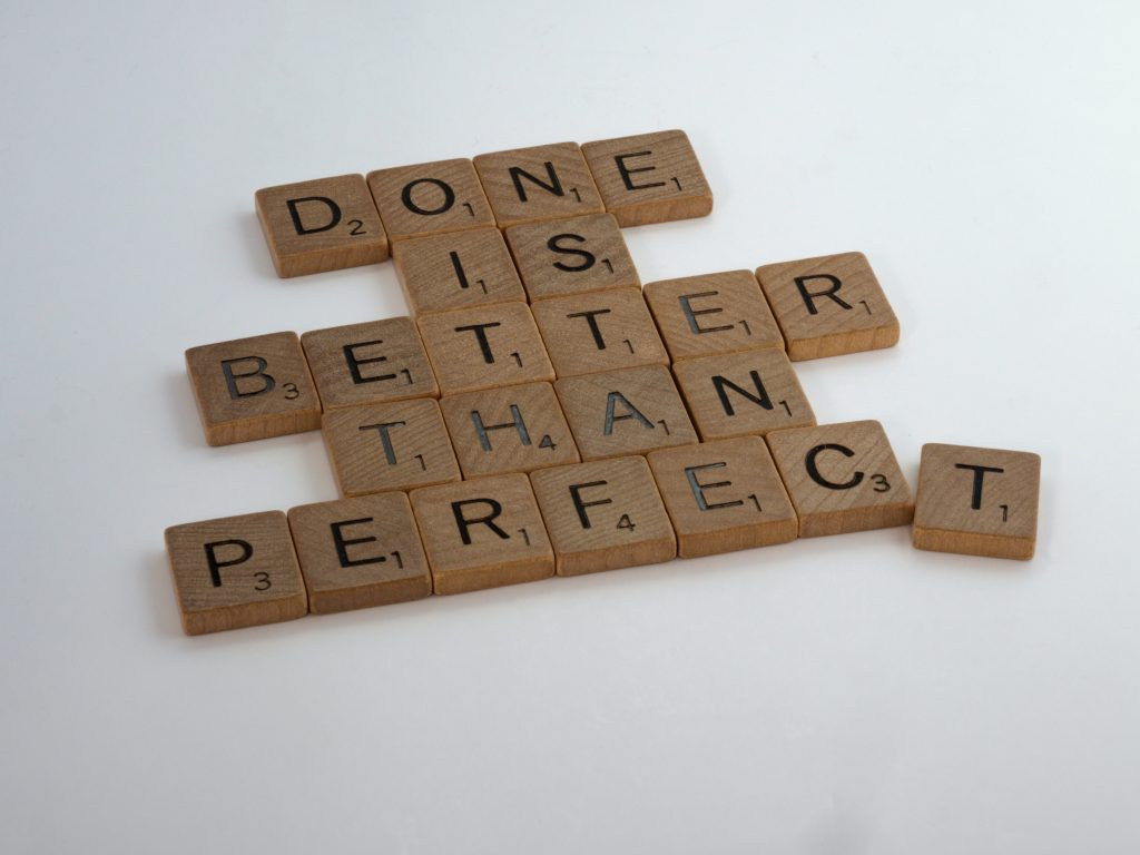 Perfectionism can be a stumbling block when it comes to overcoming writer's block and getting a story written.